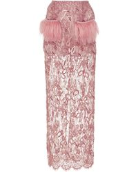 Madiyah Al Sharqi - Embroidered Lace Maxi Skirt - Lyst