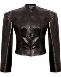 Bevza - Biker Leather Jacket - Lyst