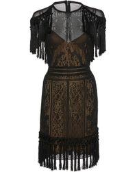 Zuhair Murad - Fringe Sheer Knit Mini Dress - Lyst