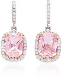 Anabela Chan - 18k White Gold, Morganite, And Diamond Earrings - Lyst