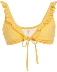 Solid & Striped - Milly Ruffle Trim Bikini Top - Lyst