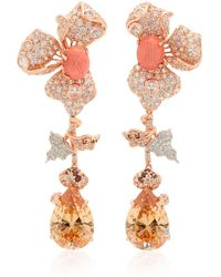 Anabela Chan - 18k Rose Gold Orchid Citrine And Diamond Earrings - Lyst