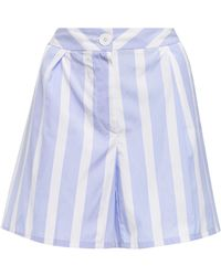 Thierry Colson - Striped Cotton Shorts - Lyst