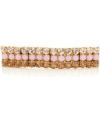 LELET NY - 14k Gold-plated Crystal Barrette - Lyst