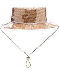 Federica Moretti - Woven Drawstring Sun Hat - Lyst