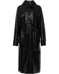 Nanushka - Gus Vegan Crocodile Coat - Lyst