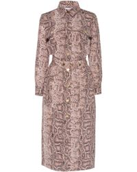 Ralph & Russo - Midi Fitted Python Shirt Dress - Lyst