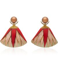 Silvia Furmanovich - Marquetry Fan Pearl Earrings - Lyst