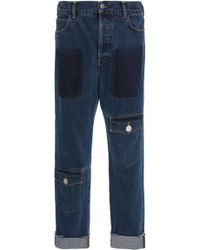JW Anderson - Distressed Straight-leg Jeans - Lyst
