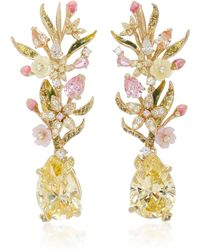 Anabela Chan - Posy Canary 18k Gold Diamond Earrings - Lyst