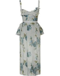fa5d098a6b Brock Collection - Dailey Floral-print Cotton Midi Dress - Lyst