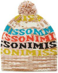 588b242be28 Missoni - Pom Pom-embellished Intarsia Wool-blend Beanie - Lyst