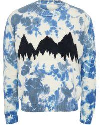 The Elder Statesman - Exclusive Intarsia Tie Dye Cashmere Mountain Jumper - Lyst