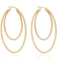Nancy Newberg - Twisted Gold Rope Hoops - Lyst