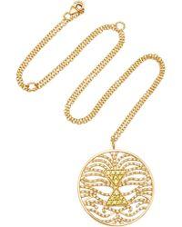Misahara - Tau 18k Gold Diamond Neckace - Lyst
