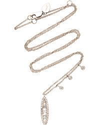 Meira T - 14k White Gold Diamond Necklace - Lyst