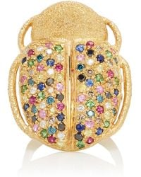 Carolina Bucci - Scarab Ring With Mixed Stones - Lyst
