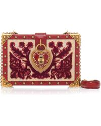 c93dc08e4006 Dolce   Gabbana - Heart Lock Wood Box Clutch - Lyst