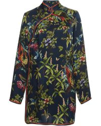 For Restless Sleepers - Menezio Printed Pyjama Dress - Lyst