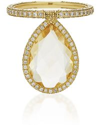 Nina Runsdorf - M'o Exclusive Large Yellow Citrine Flip Ring - Lyst
