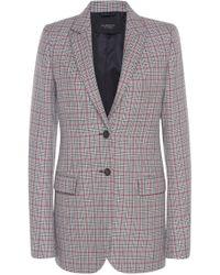Giambattista Valli - Checked Wool-blend Blazer - Lyst
