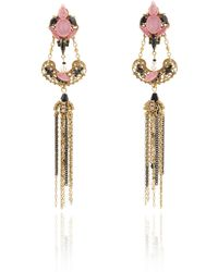 Erickson Beamon - Ingenue Crystal Petal Earrings - Lyst