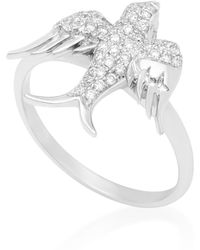 Colette | 18k White Gold Diamond Ring | Lyst