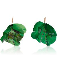Marni - Horn Petal And Strass Earrings - Lyst