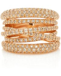 Sidney Garber - Scribble Rose Gold Ring - Lyst