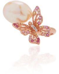 Anabela Chan - M'o Exclusive Rose Butterfly Pearl Ring - Lyst