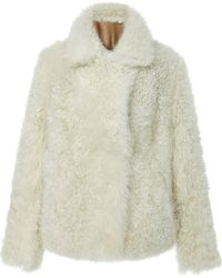 Paule Ka - Reversible Curly Shearling Jacket - Lyst