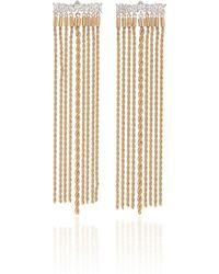 Fallon - Gold-plated Crystal Earrings - Lyst