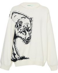 Off-White c/o Virgil Abloh - Bear Cotton Pullover - Lyst