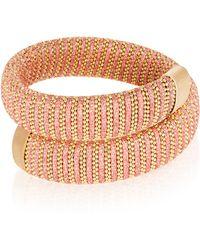 Carolina Bucci - Coral Lurex Caro Gold-plated Bracelet - Lyst