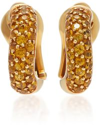 Gioia - 18k Gold And Yellow Sapphire Earrings - Lyst