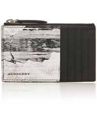 Burberry - Printed Leather Zip Card Case - Lyst