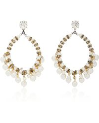 Erickson Beamon | Pretty Woman 24k Gold-plated Crystal And Pearl Earrings | Lyst