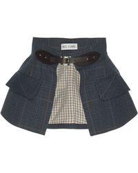 Dice Kayek | Plaid Belt Skirt | Lyst