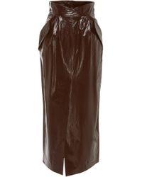 Zeynep Arcay - Patent Leather Pencil Skirt - Lyst