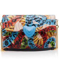 ESCADA - Multi Print Leather Shoulder Bag - Lyst