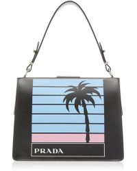 Prada - City Calf Top Handle With Single Palm - Lyst