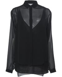 Akris - Silk Georgette Blouse - Lyst