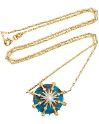 Colette - Caged Turquoise Elara Necklace - Lyst