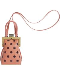PERRIN Paris - La Minaudiere Polka-dotted Leather Bag - Lyst