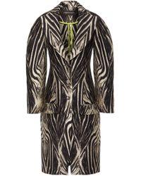 Christian Siriano - Zebra Print Oversized Crepe Coat - Lyst