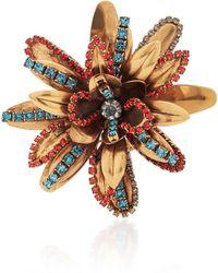 Erickson Beamon Blue Vermeil Bouquet 24k Gold-plated Crystal Brooch
