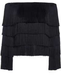 A.L.C. | Andrie Fringed Sweater | Lyst
