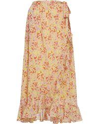 brand: Banjanan Wrap Printed Cotton Maxi Skirt