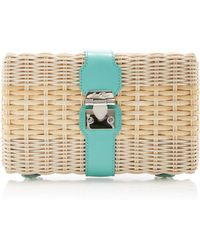 Mark Cross - Rattan Clutch - Lyst