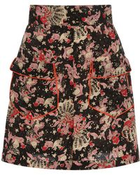 Anna Sui - Mermaids Crepe De Chine Shorts - Lyst